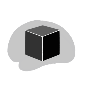 black box on top of a silhouette of a brain